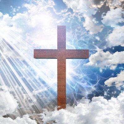 Plakat Krzyż w świetle