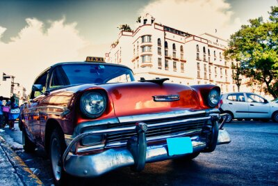 Plakat Kubańska stare samochody