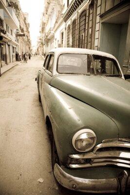 Plakat Kubańska zabytkowych samochodów