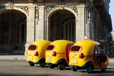 Plakat Kubańskie taksówki, Hawana