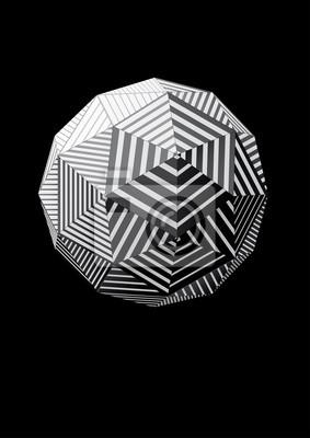 Kula z czarno-białych trójkątnych twarzach pasiastych