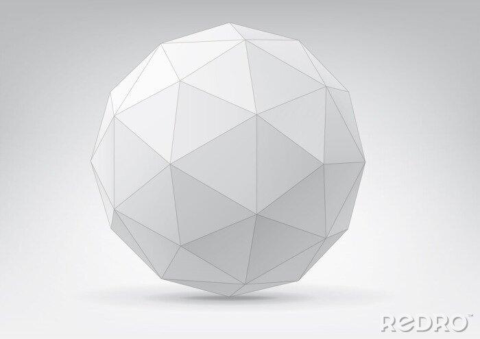 Plakat Kula z trójkątnych twarzach