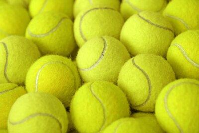 Plakat kupie piłka tenisowa jako sportu tle