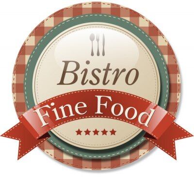 Plakat Label Bistro