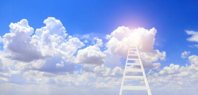 Ladder leading to a clouds