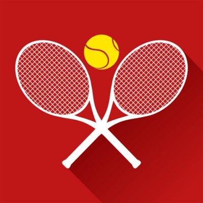 Plakat ładne ikony tenisa