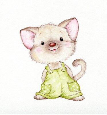 Plakat Ładny kotek