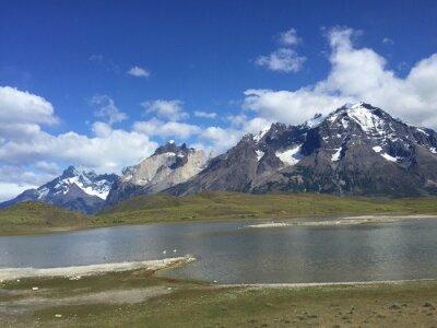 Plakat Lago en la Patagonia chilena