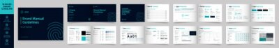 Plakat Landscape Brand Manual Template, Simple style and modern layout Brand Style , Brand Book, Brand Identity, Brand Guideline, Guide Book