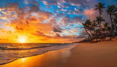 Plakat Landscape of paradise tropical island beach