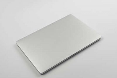 Plakat laptop and mouse isolated on white background, Technology concept