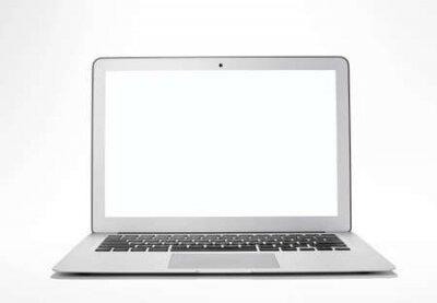 Plakat Laptop on white background