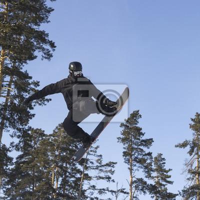 Plakat Latający snowboardzista