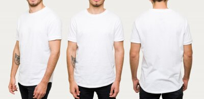 Plakat Latin man posing with a casual white t-shirt