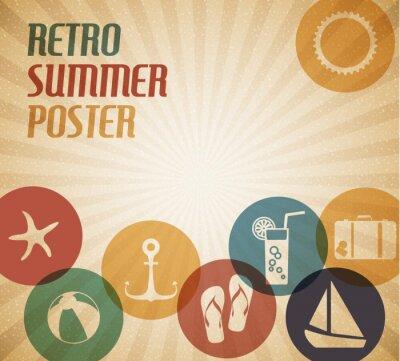 Plakat Lato Vector poster