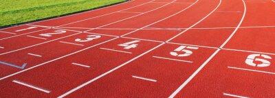 Plakat Laufbahn sportu eins bis sechs