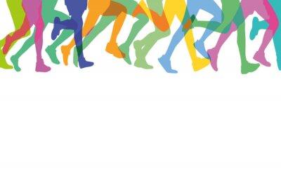 Plakat Läufer in der Gruppe