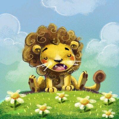 Plakat León para niños