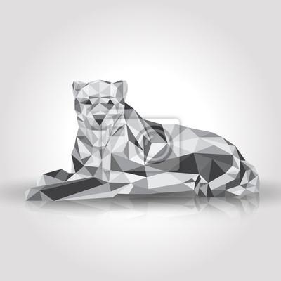 Leopard stylizowane trójkąt wielokątne modelu