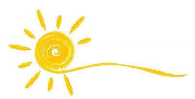 Plakat Letnie jasne słońce.