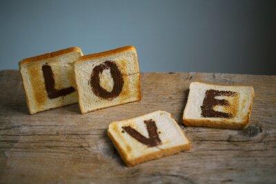 Plakat Liebe auf Toast