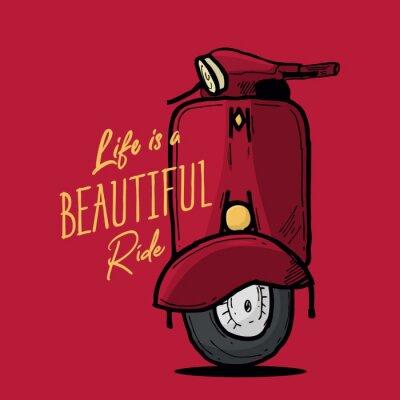 Plakat Life is beautiful ride