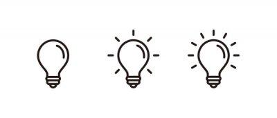 Plakat Light Bulb icon set, Idea icon symbol vector