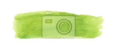 Plakat Light green watercolor label. Vector illustration.