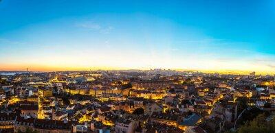 Plakat Lisbon at nigth