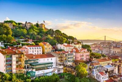 Plakat Lisbon, Portugal Skyline