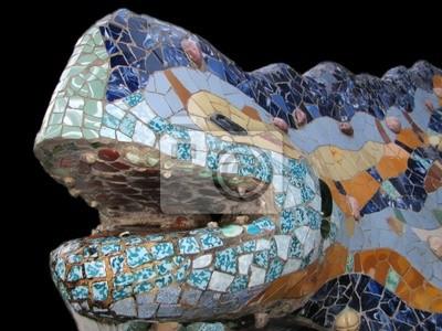 Plakat Lizard Park Guell, Barcelona