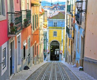 Plakat Lizbona linowa Bica