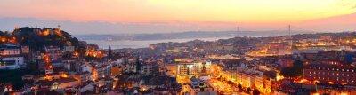 Plakat Lizbona piękna panorama
