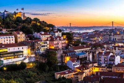 Plakat Lizbona w nigth