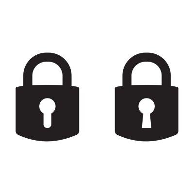 Plakat Lock vector icon, padlock icon, vector isolated symbol