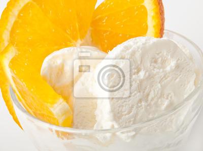 Lody waniliowe z pomarańczy