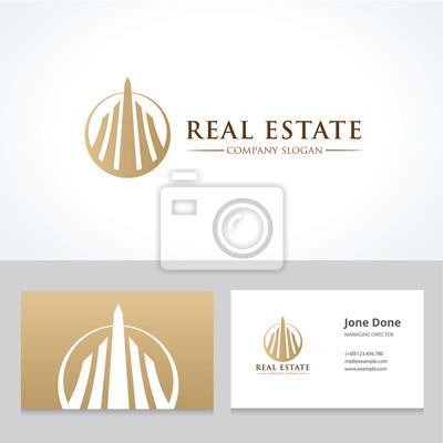 Plakat Logo dom, dom logo, nieruchomości logo, Wektor szablon logo