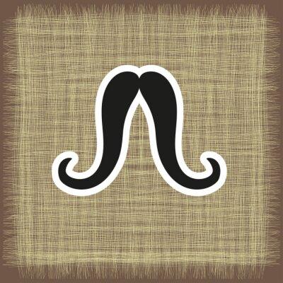 Plakat logo, pocztówka z wąsami w wektorowej EPS