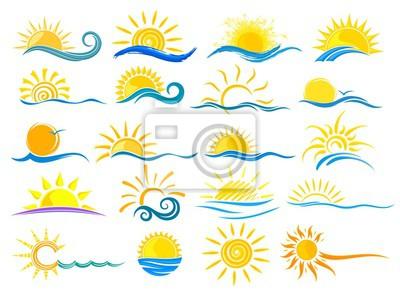 Plakat Logo słońca i morza.