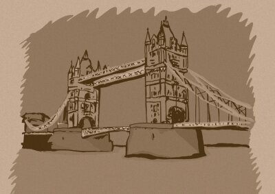 Plakat London Bridge rocznika