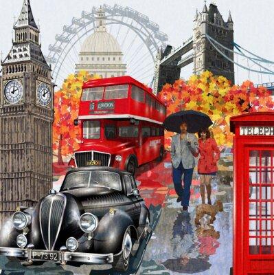 Plakat London vintage poster.