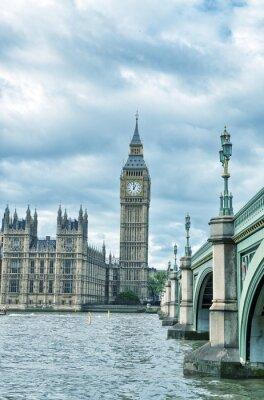 Plakat Londyn, Wielka Brytania - Pałac Westminsterski (Houses of Parliament) z B
