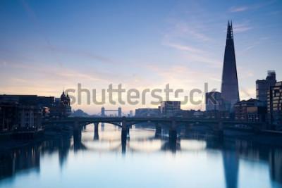 Plakat Londyńska linia horyzontu od milleneum mosta