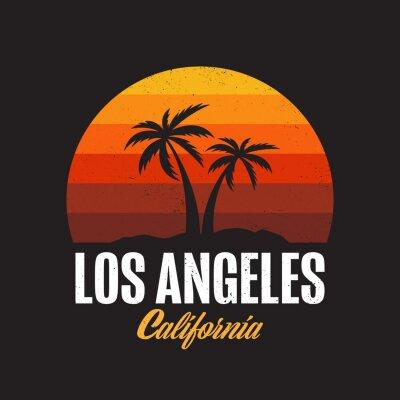 Plakat Los Angeles California Logo Design Apparel T-shirt Vector illustration
