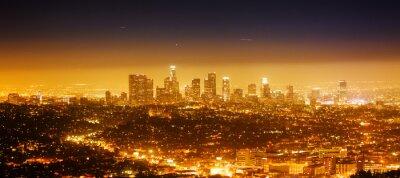 Plakat Los Angeles, noc panorama