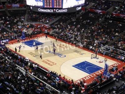 Plakat LOS ANGELES, NOVEMBER 25: Clippers vs. Kings: Kings player dribbles ball past Clippers player at Staples Center taken November 25 Los Angeles California.
