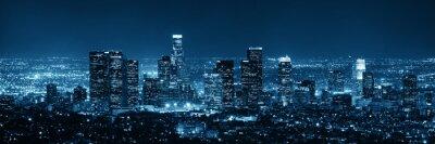 Plakat Los Angeles w nocy