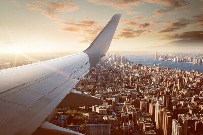 Plakat Lot nad Nowym Jorku