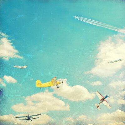 Plakat Lotnictwo tle
