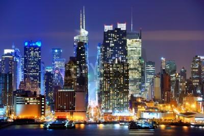 Plakat Lower Manhattan from across the Hudson River in New York City.